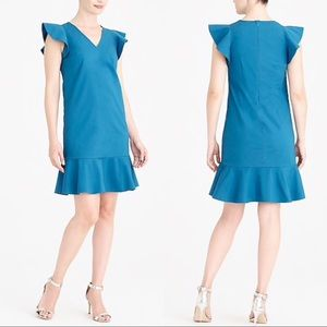 J. Crew Mercantile Turquoise Ruffle Tank Dress New